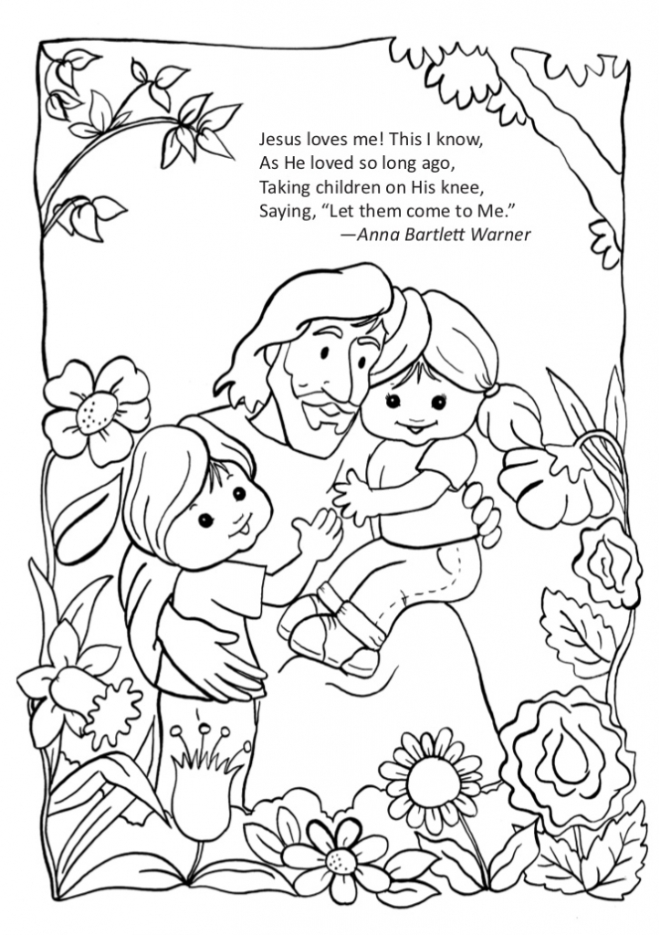 jesus and the children coloring page - new jesus and the children coloring page 14 10 2017