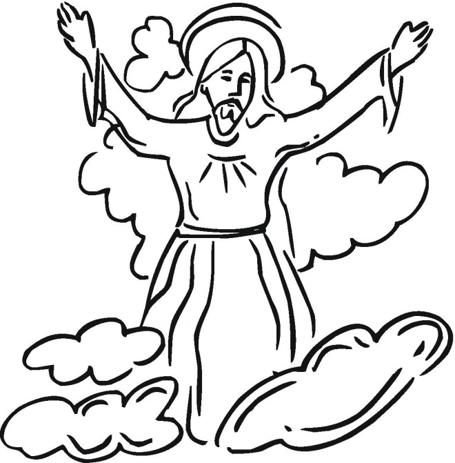 jesus ascension coloring page - religiouseaster3pf