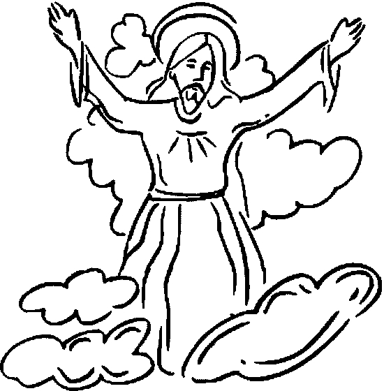Jesus ascension Coloring Page - the ascension Of Jesus