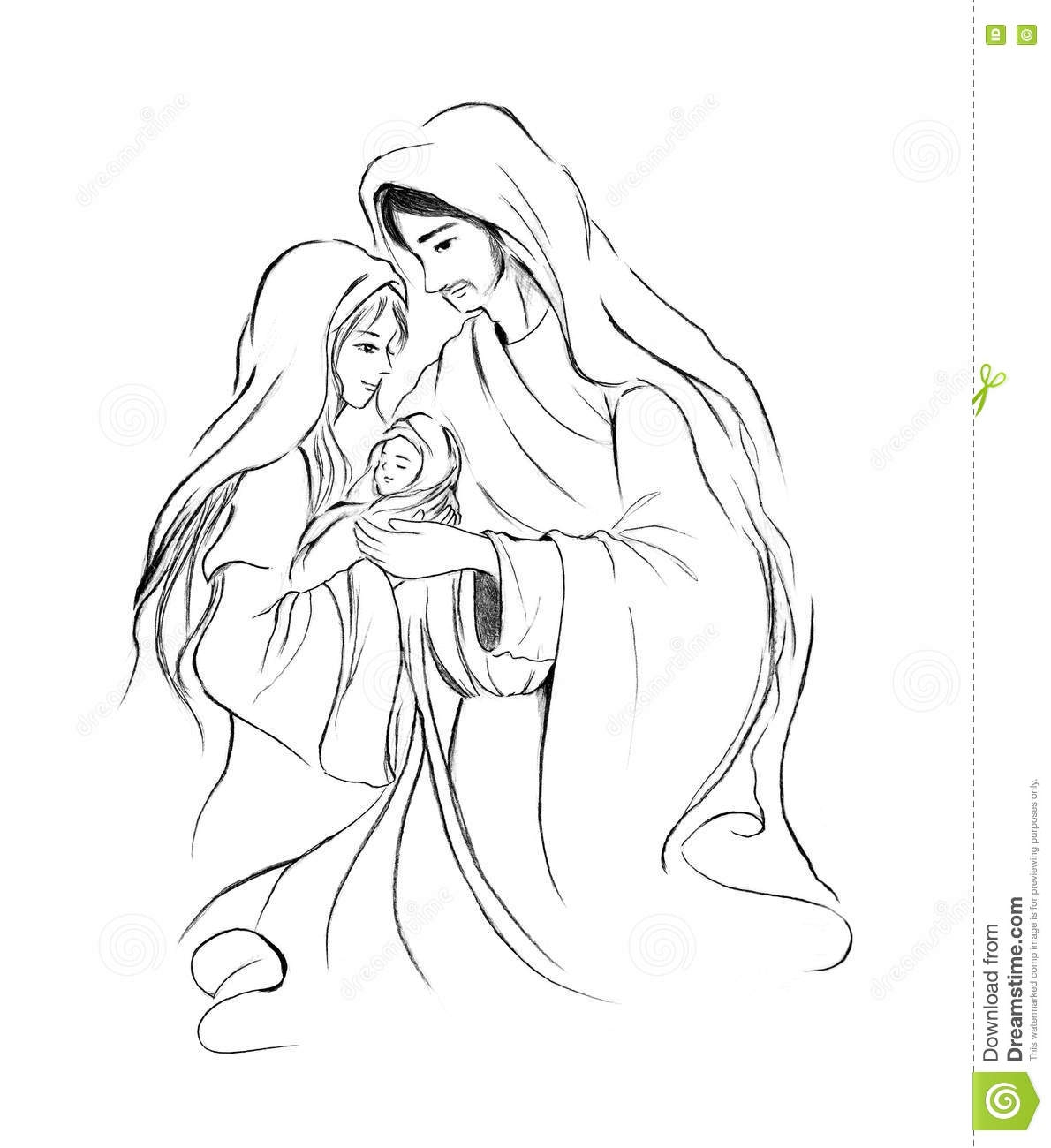 jesus calms the storm coloring page - stock illustration baby jesus mary joseph abstract line art drawing white background christmas holiday season xmas artwork image