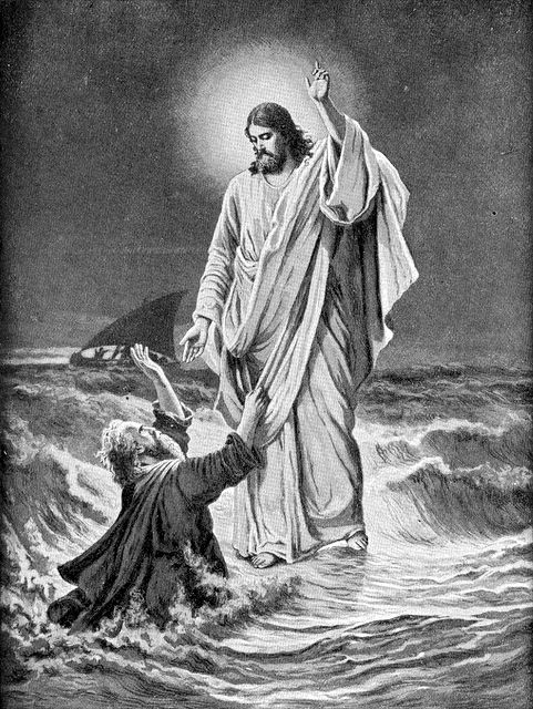 jesus calms the storm coloring page - matthew 1422 33 verse jesus walking on