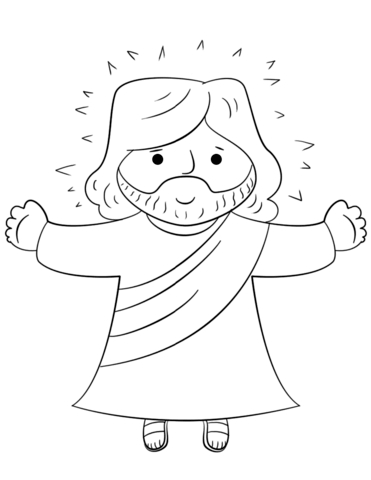 jesus coloring pages - cartoon jesus