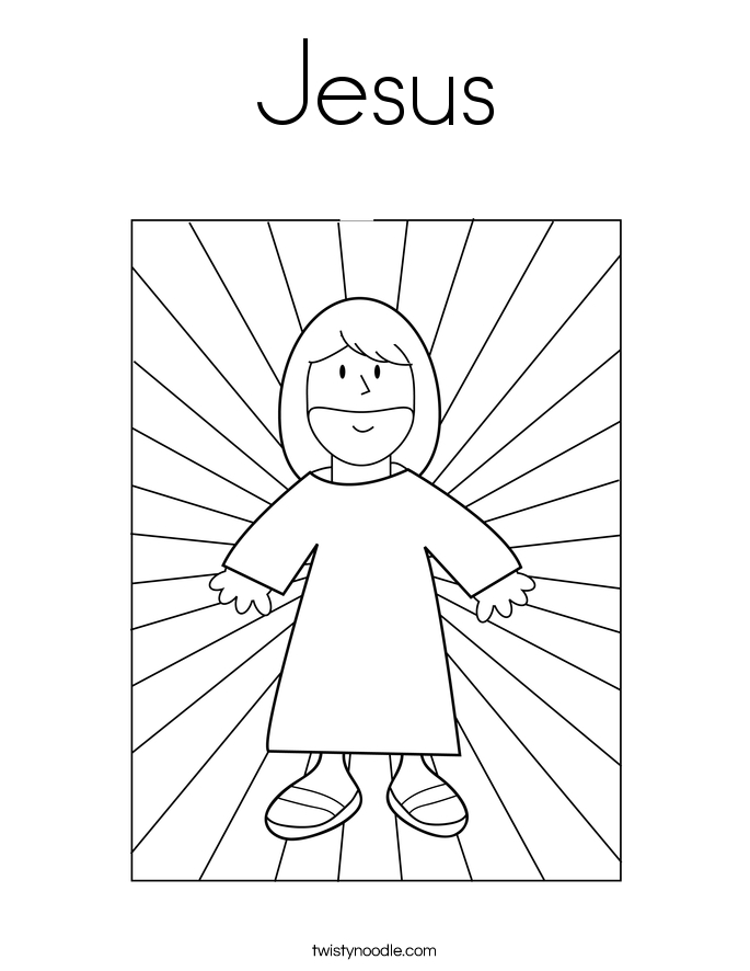 jesus coloring pages - jesus 3 coloring page