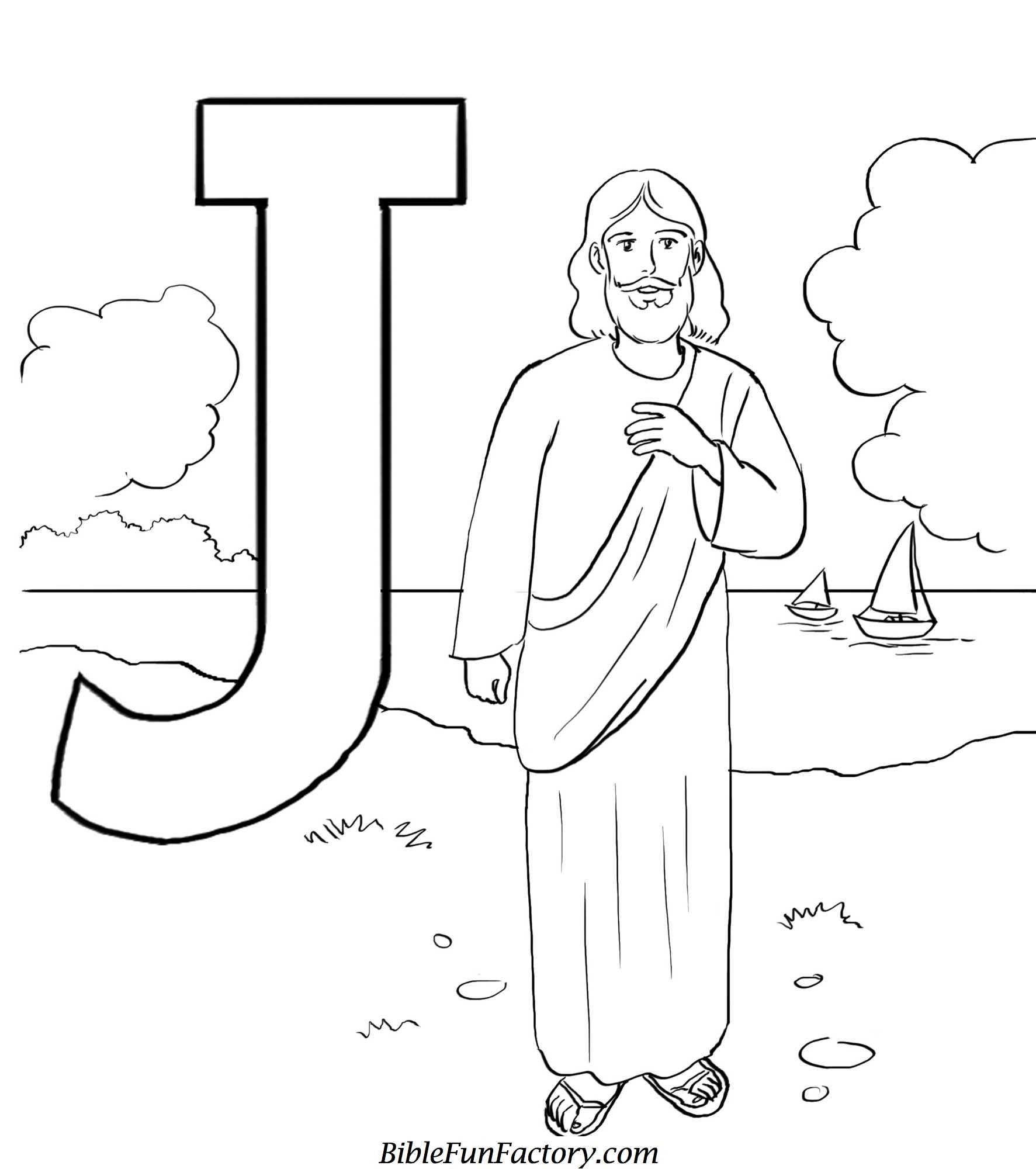 jesus coloring pages - free jesus coloring pages
