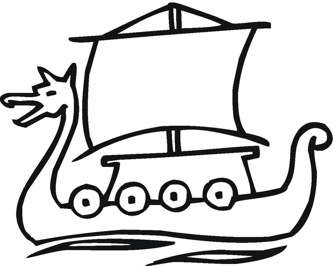 jesus easter coloring pages - viking ship coloring page