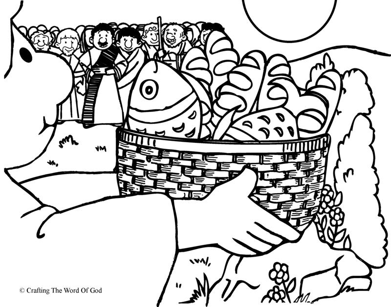 jesus feeds 5000 coloring page - coloring pages jesus feeds 5000