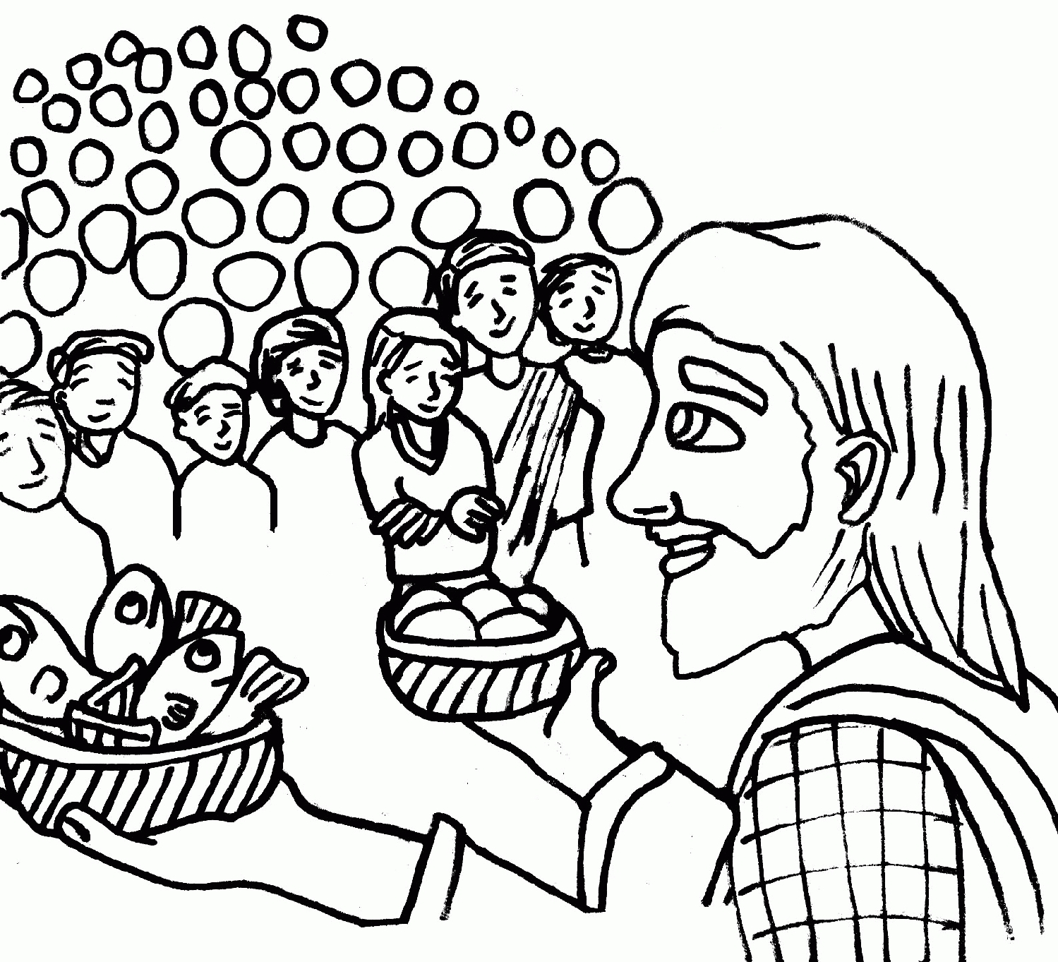 jesus feeds 5000 coloring page - jesus feeds 5000 coloring page