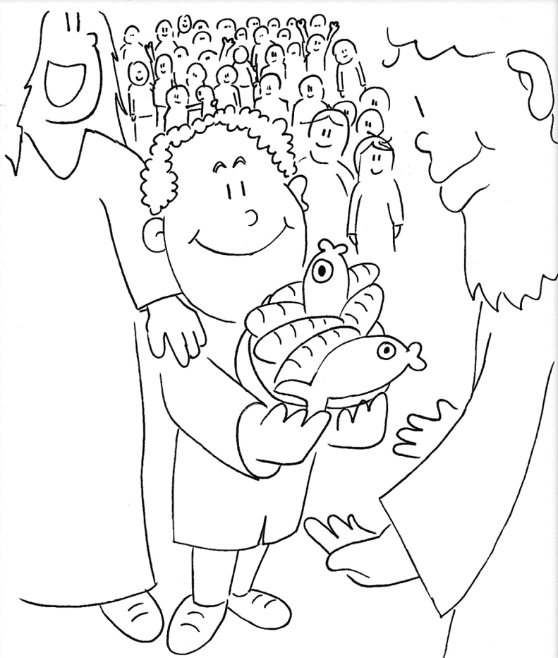jesus feeds 5000 coloring page - jesus feeds 5000 coloring page sketch templates
