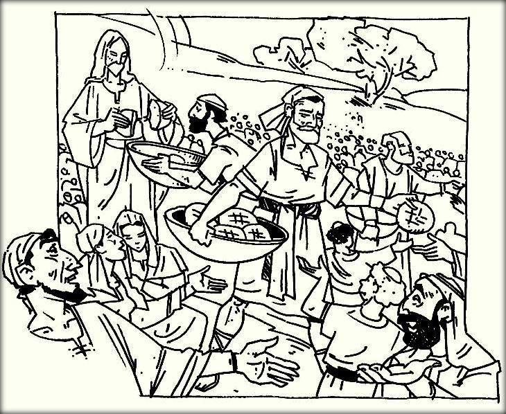 jesus feeds 5000 coloring page - jesus feeds 5000 coloring pages