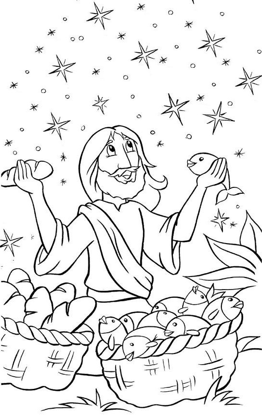 jesus feeds 5000 coloring page - s=jesus feeds 5,000