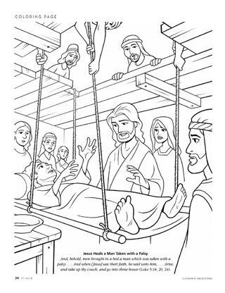 21 jesus heals coloring page selection free coloring pages part 3