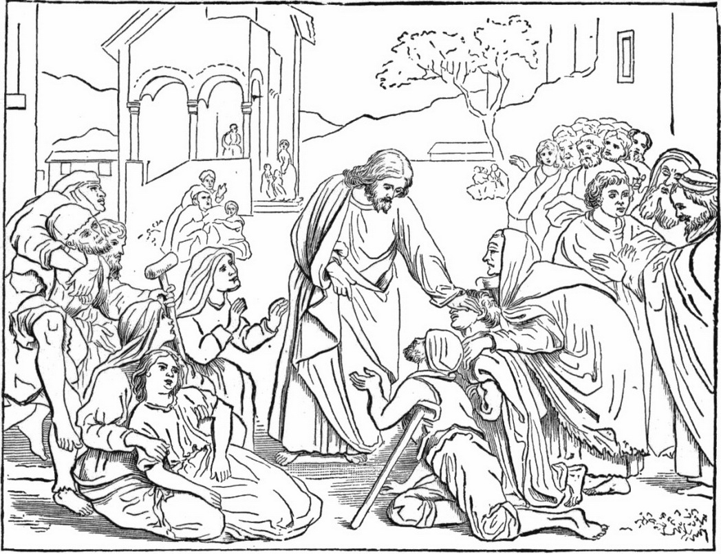 21 Jesus Heals Coloring Page Selection | FREE COLORING PAGES - Part 3