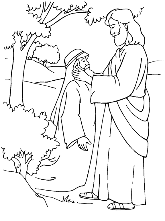 Jesus Heals Coloring Page - Jesus Heals A Deaf Mute Coloring Page
