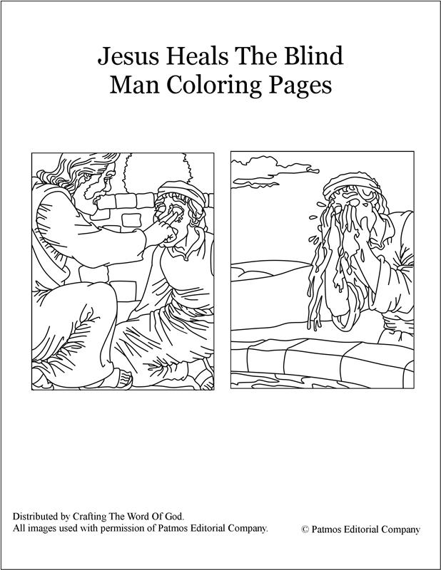 jesus heals coloring page - jesus heals the blind man coloring pages