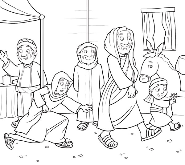 jesus heals coloring page - preschool coloring pages jesus heals the lepers sketch templates