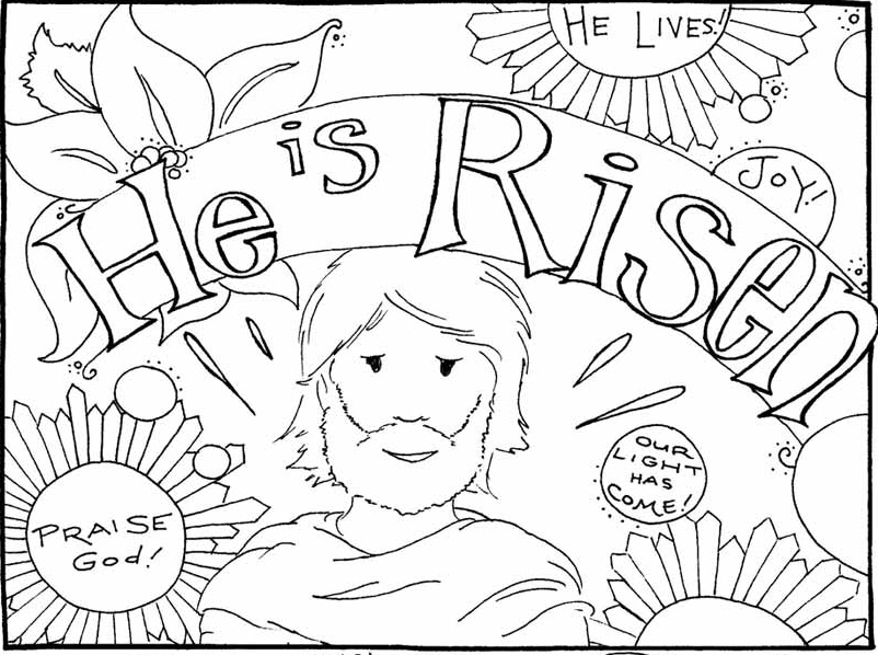 jesus is risen coloring page - jesus has risen coloring pages
