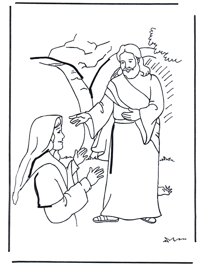 jesus is risen coloring page - q=jesus on the road to emmaus