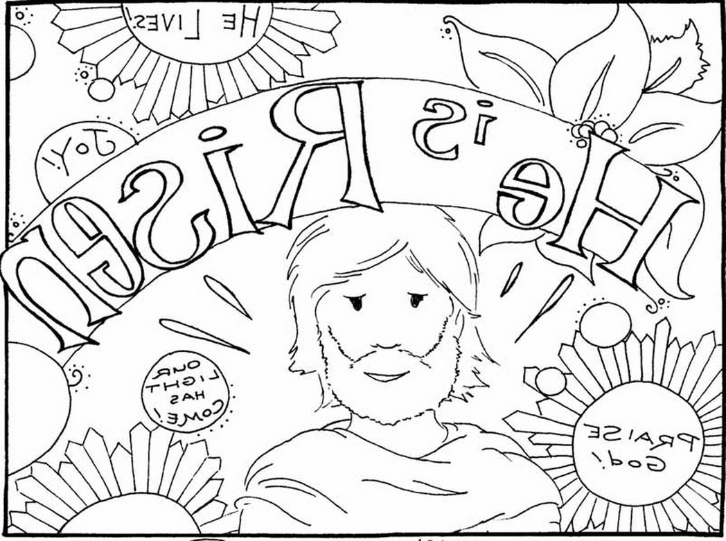 jesus is risen coloring page - jesus has risen coloring pages sketch templates