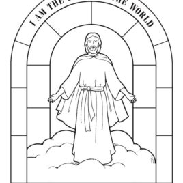 jesus is the light of the world coloring page - coloring pages jesus light of the world