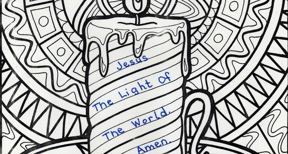 jesus is the light of the world coloring page - jesus is light