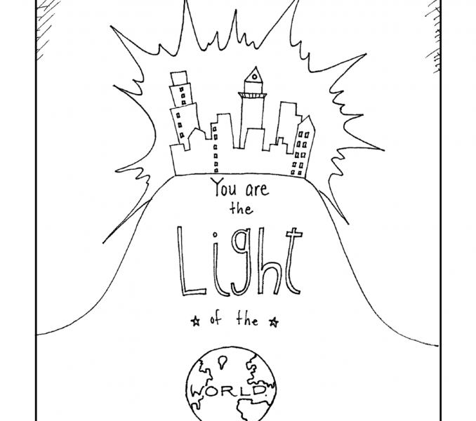 jesus is the light of the world coloring page - jesus is the light of the world activities for kids