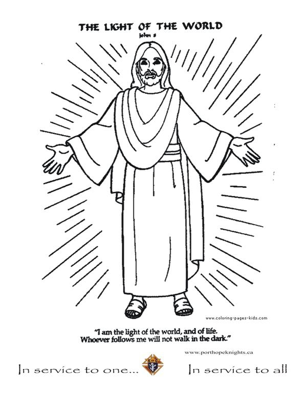 jesus is the light of the world coloring page - jesus is the light of the world coloring page