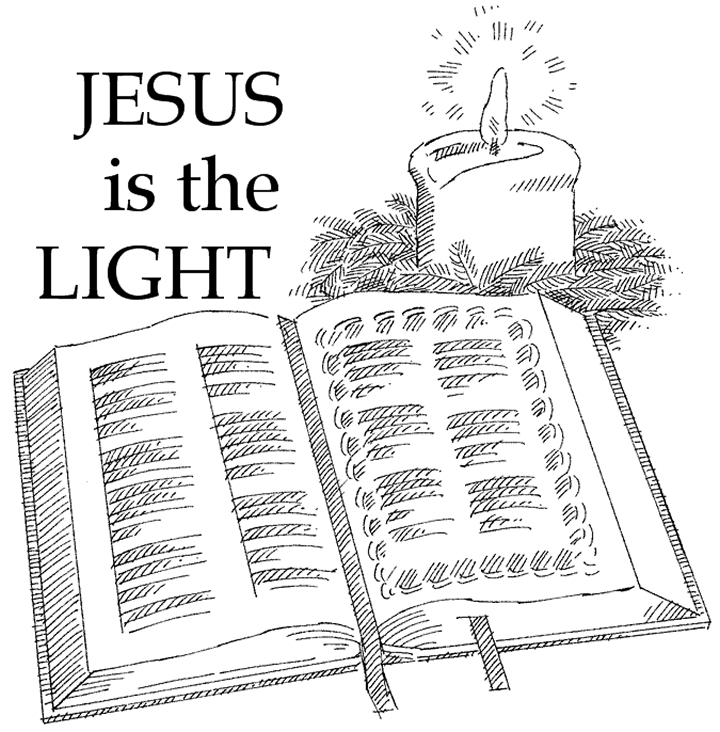 jesus is the light of the world coloring page - light of the world colorpg 2