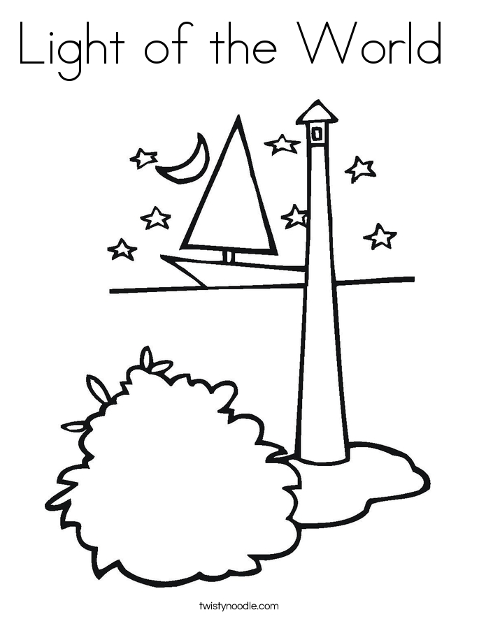 jesus is the light of the world coloring page - light of the world coloring page