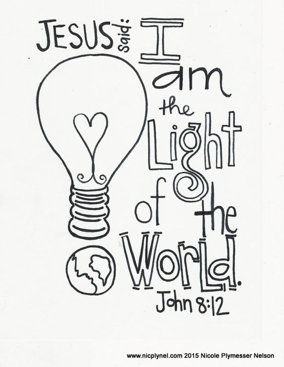 jesus is the light of the world coloring page - light of the world coloring sheet sketch templates