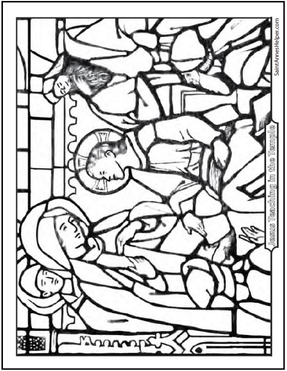 jesus on the cross coloring pages - rosary coloring pages