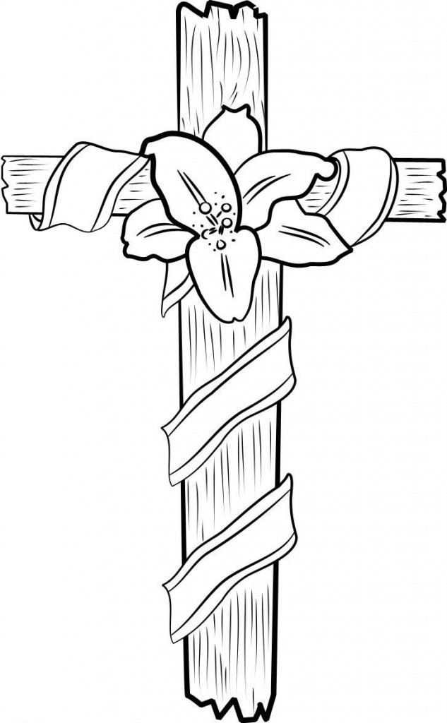 Jesus On the Cross Coloring Pages - Free Printable Cross Coloring Pages for Kids