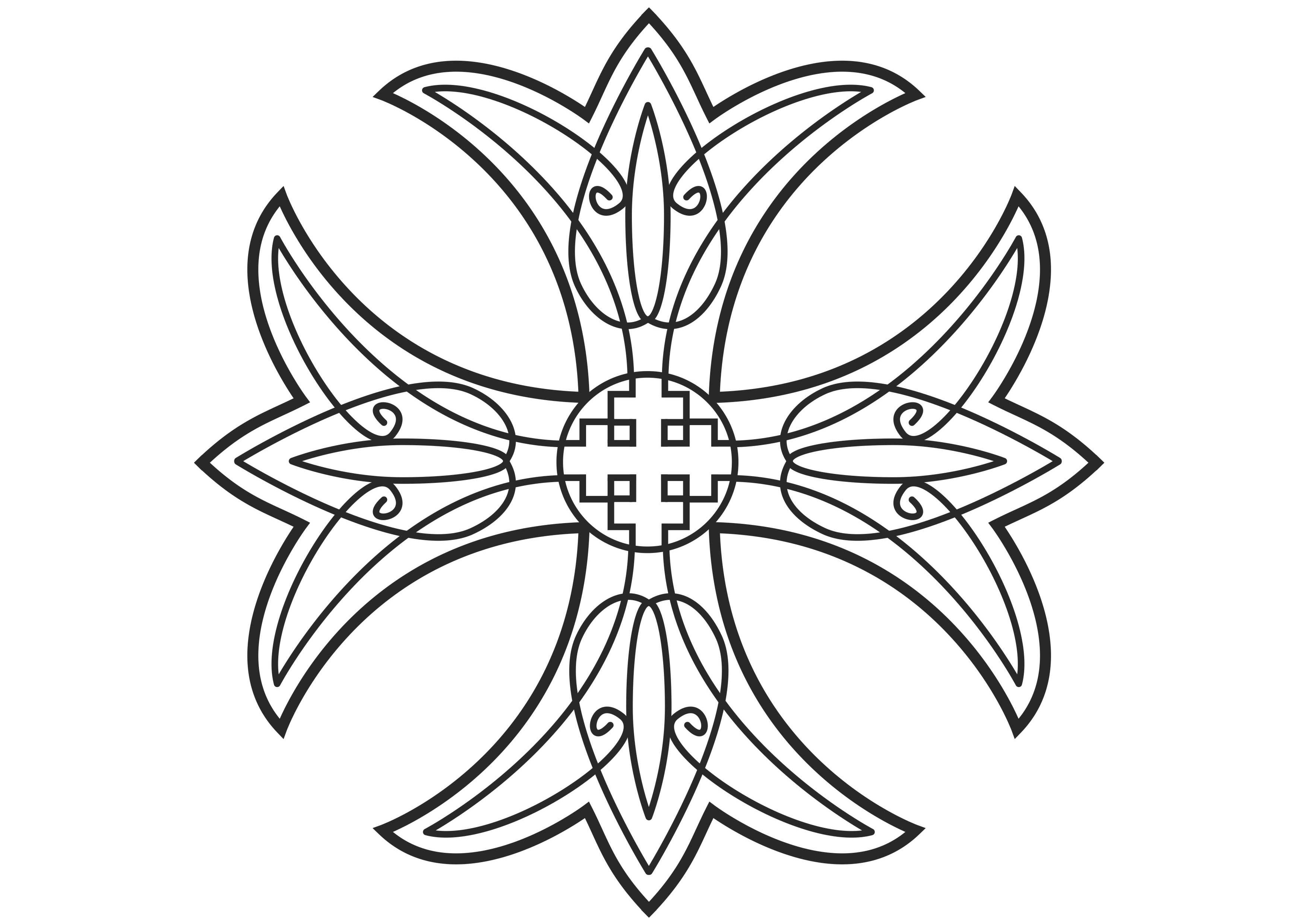 jesus on the cross coloring pages - Coptic Cross 20
