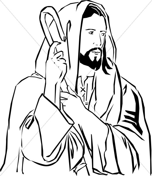 jesus on the cross coloring pages - jesus clipart