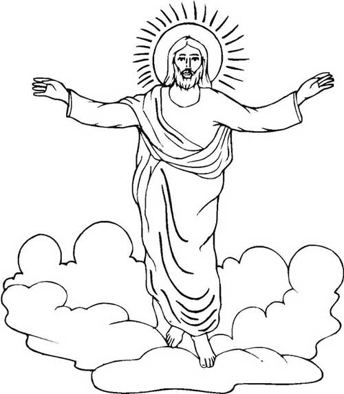 jesus resurrection coloring page - jesus