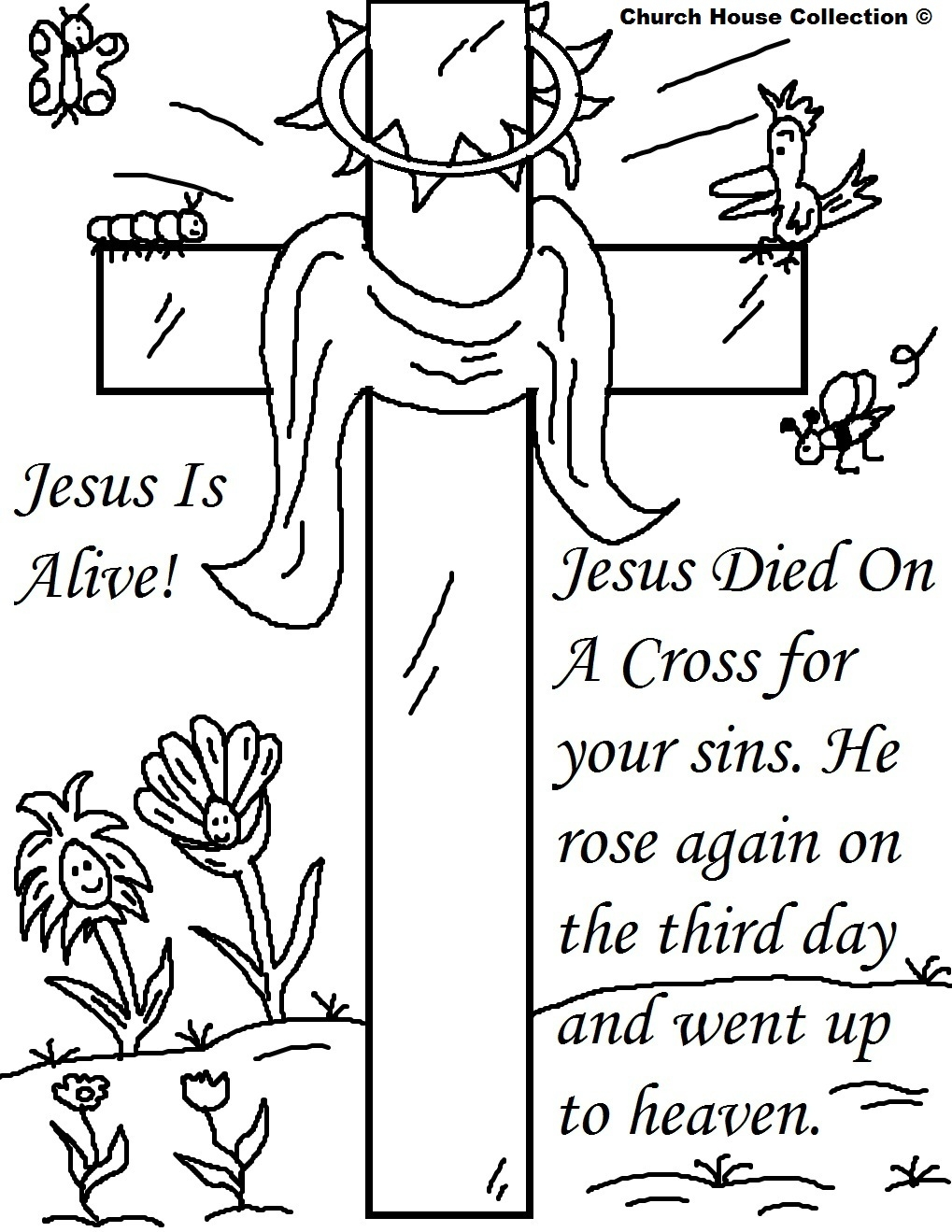 jesus resurrection coloring page - easter jesus resurrection coloring