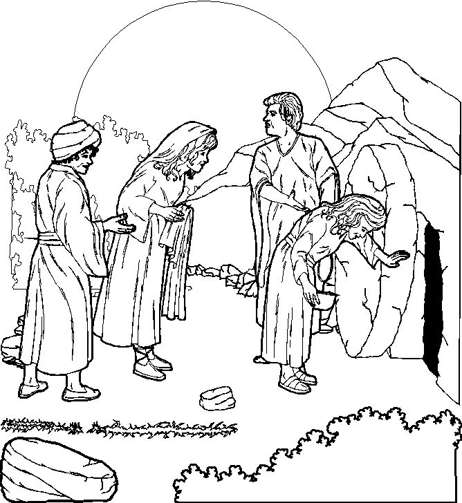 jesus resurrection coloring page - jesus christ resurrection pictures