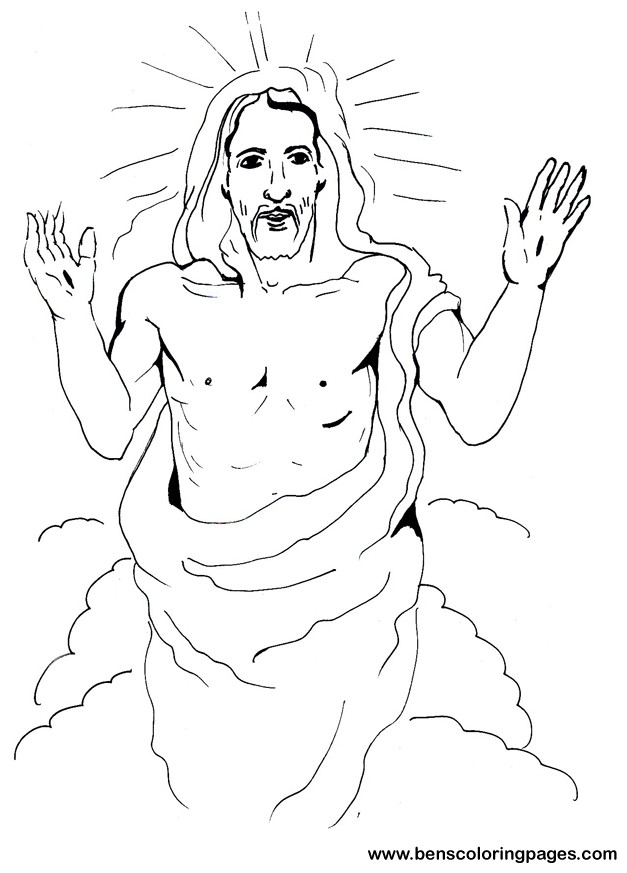 jesus resurrection coloring page - jesusresurrection
