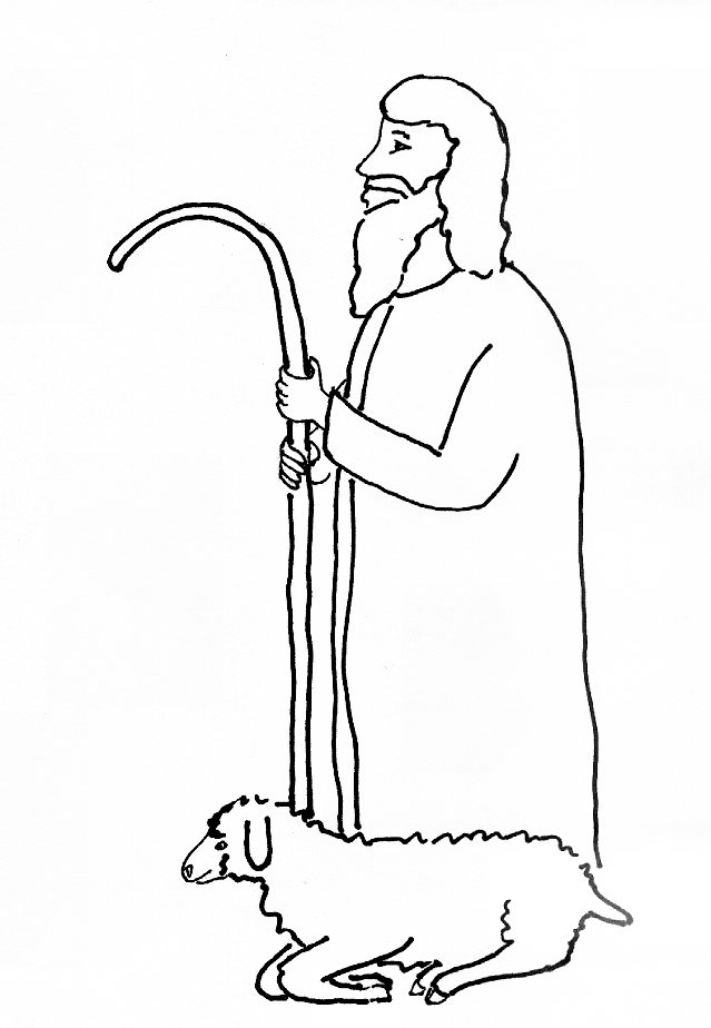 jesus the good shepherd coloring pages - bible story coloring page for jesus our shepherd