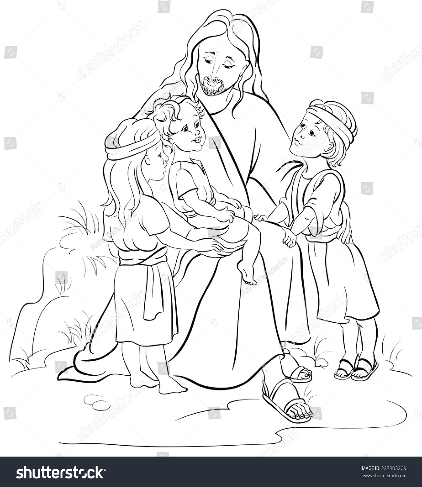 jesus the good shepherd coloring pages - bible story jesus children coloring page