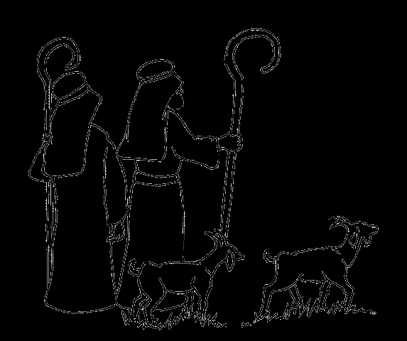jesus the good shepherd coloring pages - pastori di betlemme index