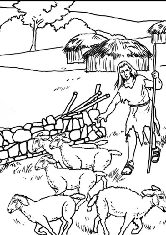 jesus the good shepherd coloring pages - malvorlage 1b schaefer i7632
