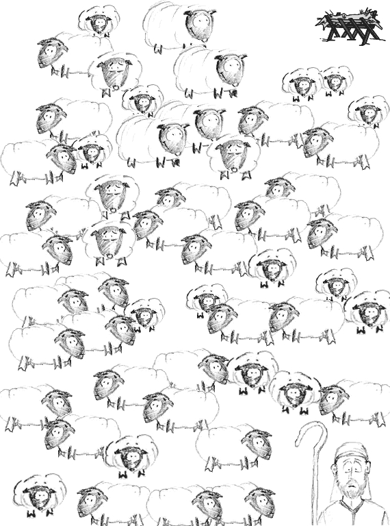 jesus the good shepherd coloring pages - maze shepherd