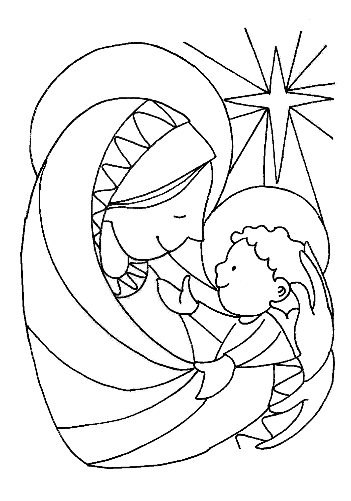 jesus walks on water coloring page - christmas childrens stories poems more
