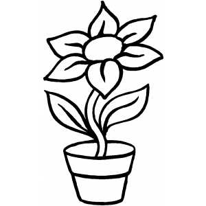 Jesus Walks On Water Coloring Page - Flower In Pot Coloring Page