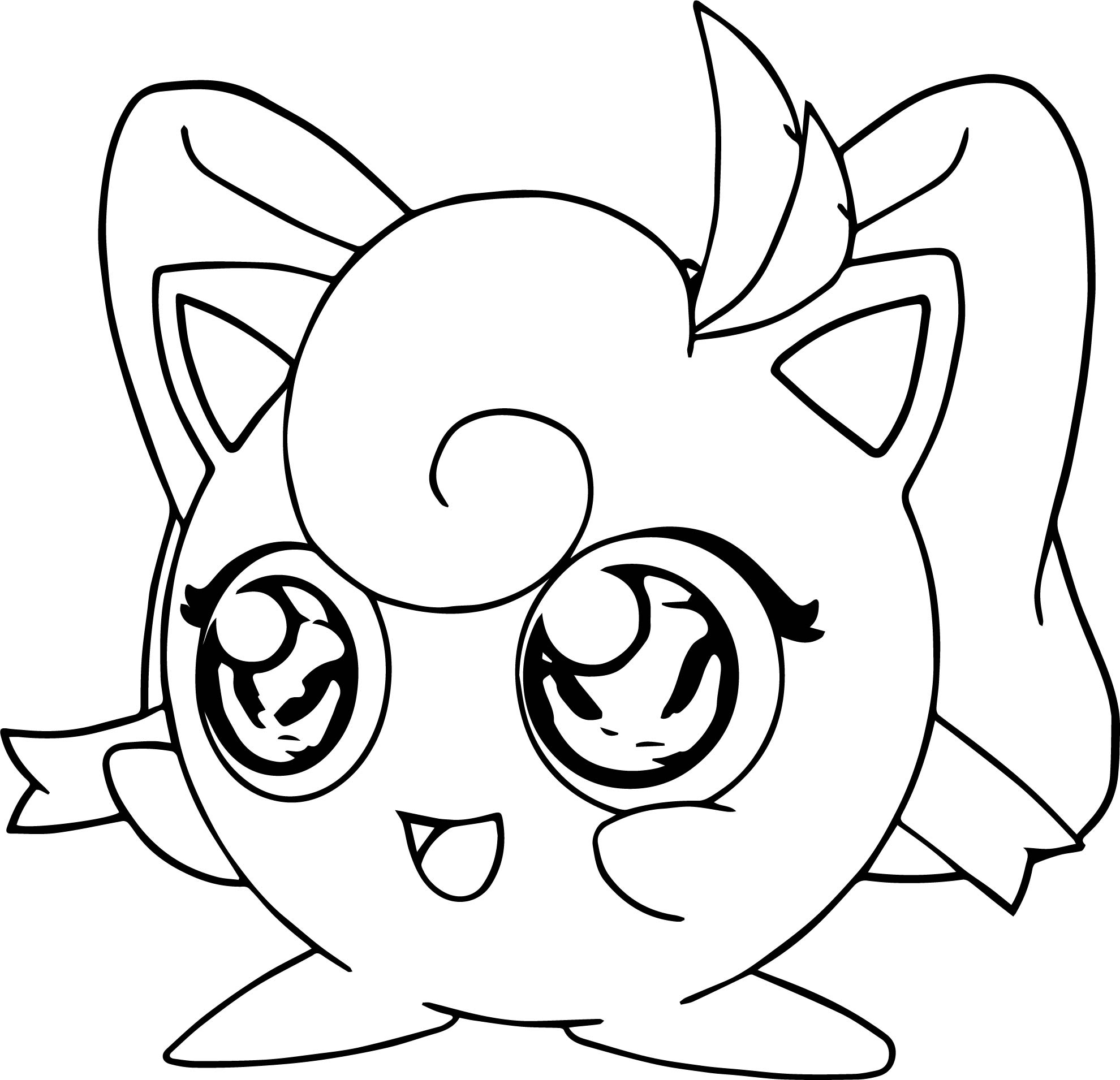jigglypuff coloring page - girl jigglypuff coloring page