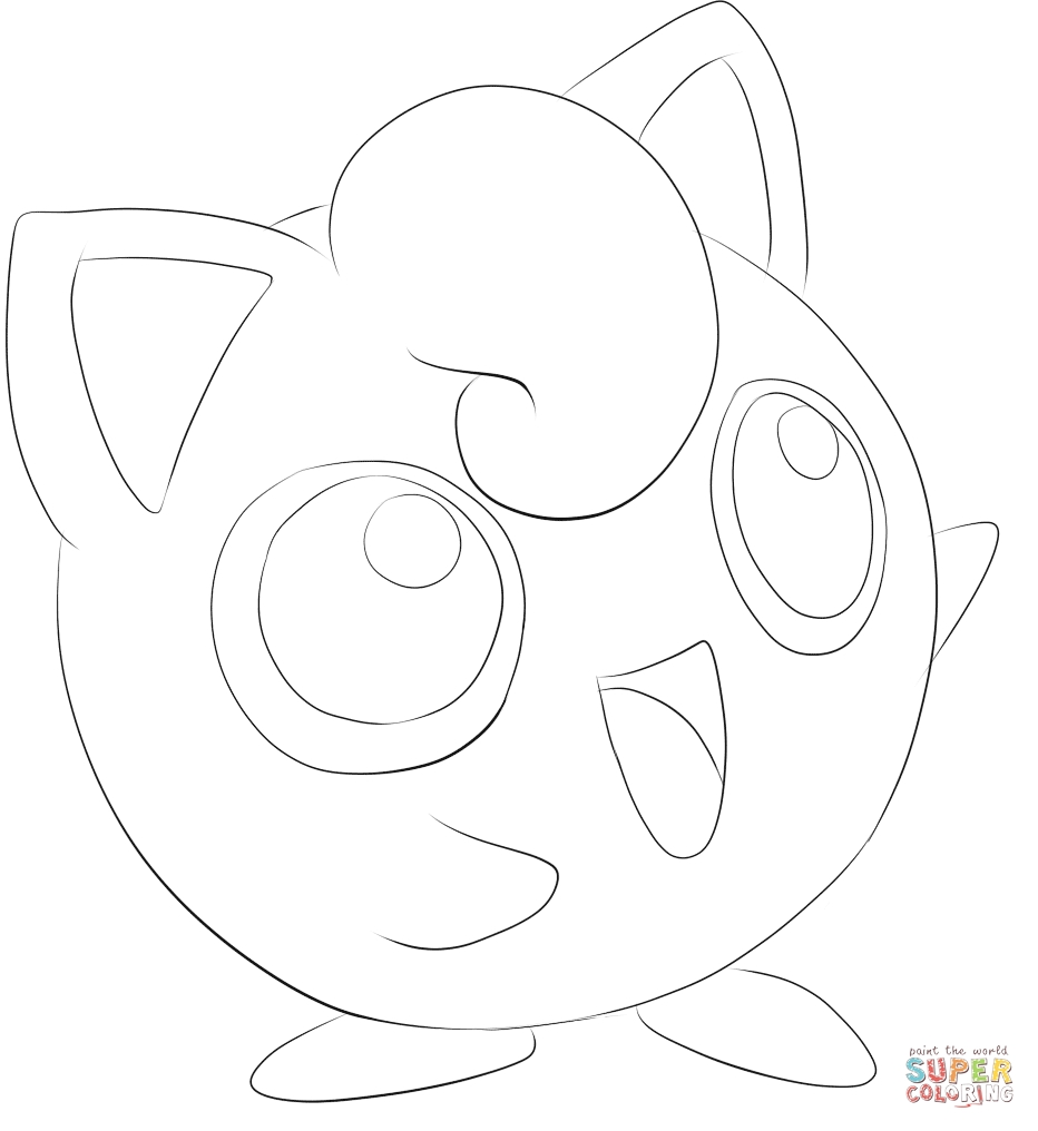jigglypuff coloring page - jigglypuff