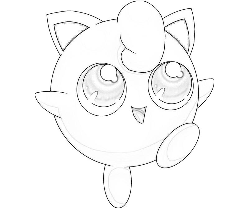 jigglypuff coloring page - jigglypuff funny