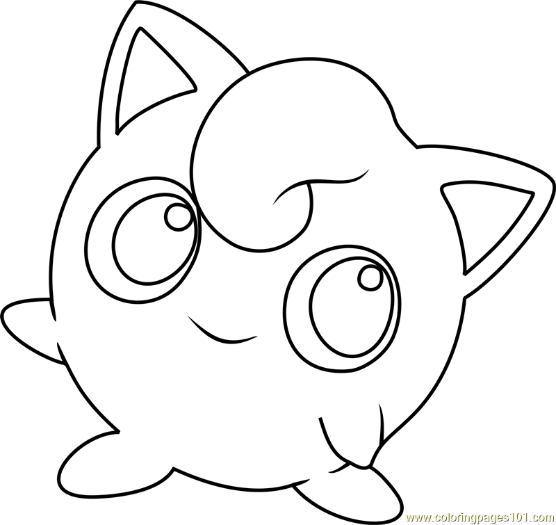 jigglypuff coloring page - jigglypuff pokemon coloring page