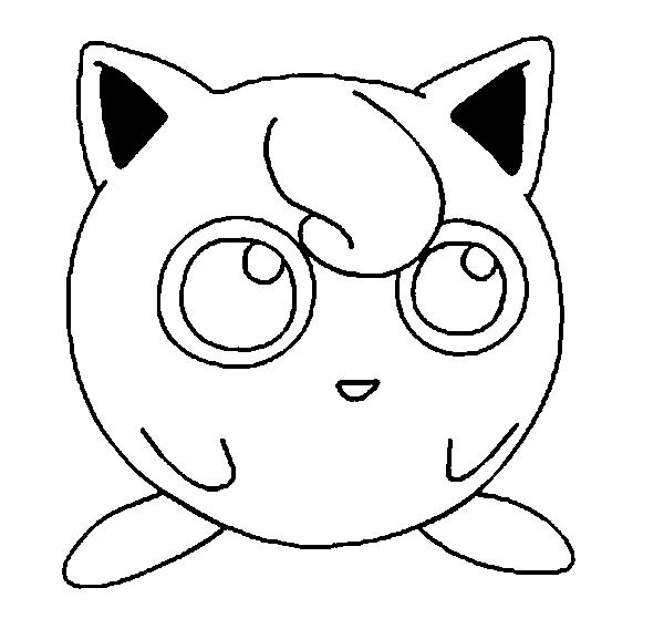 jigglypuff coloring page -