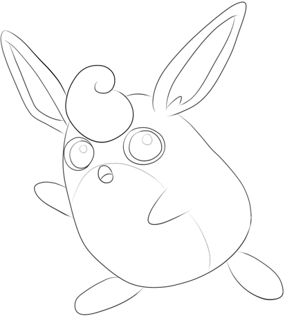Jigglypuff Coloring Page - Wigglytuff Coloring Page